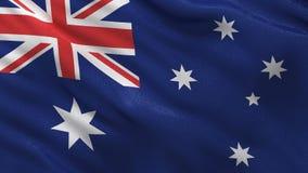 Bezszwowa pętla Australijski Chorągwiany falowanie w wiatrze