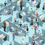 Bezszwowa płytka ludzie w biurowym biurze Zdjęcie Royalty Free
