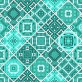 Bezszwowa patchwork płytka w seledynu błękita brzmieniach Zdjęcie Royalty Free
