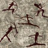Bezszwowa Plemienna łuczniczka royalty ilustracja