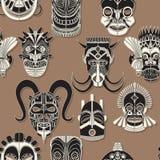 Bezszwowa plemienna maska Obrazy Stock