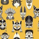 Bezszwowa plemienna maska Zdjęcia Stock