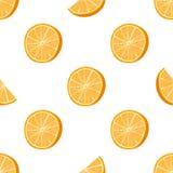 Bezszwowa pomarańcze kropkująca deseniowa Handdrawn wektorowa ilustracja ilustracji
