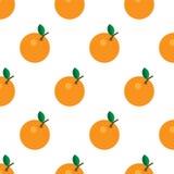 Bezszwowa pomarańczowa owoc w kwadratowym formata tle - wektoru wzór ilustracja wektor