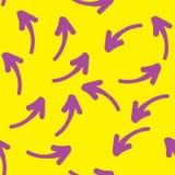 Bezszwowa ręka rysujący geometryczny wzór z fiołkowymi strzała 10 tło projekta eps techniki wektor ilustracji