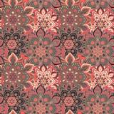 Bezszwowa ręka rysujący mandala wzór Roczników elementy w orienta Fotografia Royalty Free