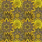 Bezszwowa ręka rysujący mandala wzór Roczników elementy w orienta Obraz Royalty Free
