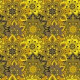 Bezszwowa ręka rysujący mandala wzór Roczników elementy w orienta Zdjęcia Royalty Free