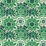 Bezszwowa ręka rysujący mandala wzór Roczników elementy w orienta Zdjęcie Stock
