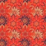 Bezszwowa ręka rysujący mandala wzór Roczników elementy w orienta Zdjęcie Royalty Free