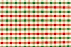 Bezszwowa retro czerwieni i zieleni ciosowa tkanina Fotografia Stock