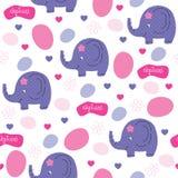 Bezszwowa słonia wzoru wektoru ilustracja Obraz Stock