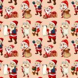 Bezszwowa Santa klauzula ilustracji