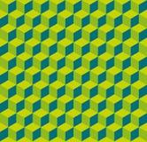 Bezszwowa sześcianu wzoru tła tekstura ilustracja wektor