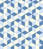 Bezszwowa sześcianu wzoru tła tekstura ilustracji