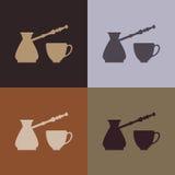 bezszwowa tło kawa Fotografia Royalty Free