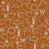 bezszwowa tło kuchnia Obraz Stock