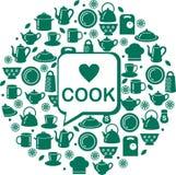 bezszwowa tło kuchnia Obraz Royalty Free