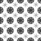 Bezszwowa tafluje tekstura z czarnymi ornamentami Zdjęcie Royalty Free