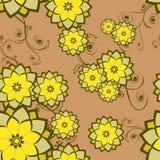 bezszwowa tapeta dachówkowa kwiat royalty ilustracja