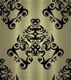 Bezszwowa tapeta na srebnym tle Obraz Royalty Free