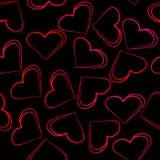 Bezszwowa tapeta serca Zdjęcie Royalty Free