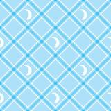 bezszwowa tapeta tła w kratkę błękitny tablecloth Zdjęcie Royalty Free