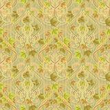 Bezszwowa tapeta z liśćmi w sztuki nouveau stylu, wektor Obraz Royalty Free