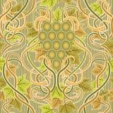 Bezszwowa tapeta z winogronem w sztuki nouveau stylu, wektor Zdjęcie Royalty Free