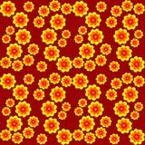 Bezszwowa tekstura żółci kwiaty Zdjęcia Stock