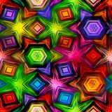 Bezszwowa tekstura abstrakcjonistyczny jaskrawy błyszczący kolorowy royalty ilustracja