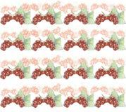 Bezszwowa tekstura akwarela jagody obecna czerwony Zdjęcie Stock