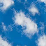 Bezszwowa tekstura biel chmurnieje w niebie Zdjęcie Stock