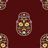 Bezszwowa tekstura czaszka kwiatu wizerunek ilustracja wektor