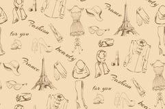 Bezszwowa tekstura na modzie Paryż Zdjęcie Royalty Free