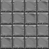 Bezszwowa tekstura szarość kwadrata kamień, tło kamiennej ściany płytki Wektorowa ilustracja dla interfejs użytkownika gra ilustracji