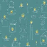 Bezszwowa tekstura świeczki Obrazy Royalty Free