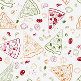 Bezszwowa tekstura wizerunków plasterki pizza Zdjęcia Stock
