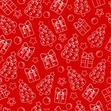 Bezszwowa tekstura z ślicznymi białymi prezentów pudełkami na tle Zdjęcia Stock