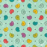 Bezszwowa tekstura z barwionymi skorupami ilustracja wektor
