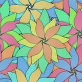 Bezszwowa tekstura z 3D kwiatów wzorem royalty ilustracja