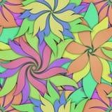Bezszwowa tekstura z 3D kwiatów wzorem ilustracja wektor