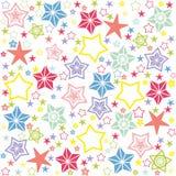 Bezszwowa tekstura z gwiazdami ilustracji