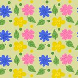 Bezszwowa tekstura z kwiatami w doodle stylu r?wnie? zwr?ci? corel ilustracji wektora ilustracja wektor