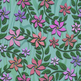 Bezszwowa tekstura z kwiatu wzorem ilustracji