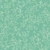 Bezszwowa tekstura z liśćmi i jagodami Obraz Royalty Free