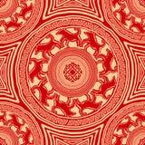 Bezszwowa tekstura z mandalas royalty ilustracja