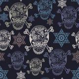 Bezszwowa tekstura z occult symbolem 1 Zdjęcia Royalty Free