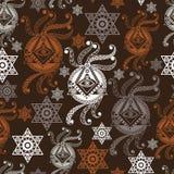 Bezszwowa tekstura z occult symbolem 3 Obrazy Royalty Free