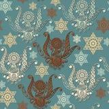 Bezszwowa tekstura z occult symbolem 5 Obraz Royalty Free